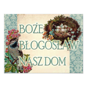 Polish Boże Błogosław Nasz Dom Bless Our Home Photo Print