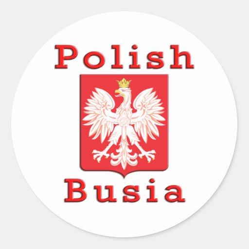 Polish Busia Eagle Classic Round Sticker