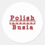 Polish Busia Eagles Classic Round Sticker