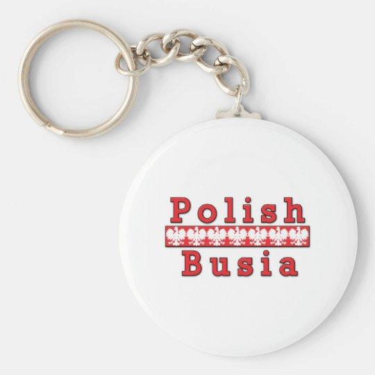 Polish Busia Eagles Keychain