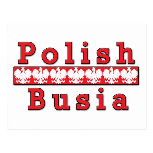 Polish Busia Eagles Postcard