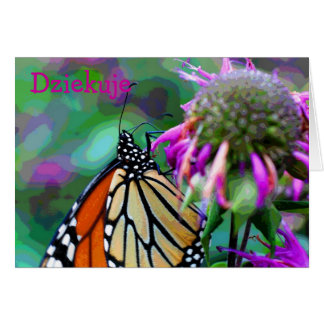 Polish Butterfly Nature Photo Thank You Card