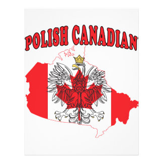 Polish Canadian Canada Flag Map Custom Flyer