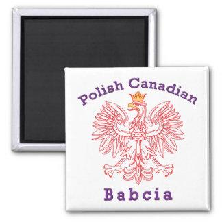 Polish Canadian Eagle Babcia 2 Inch Square Magnet