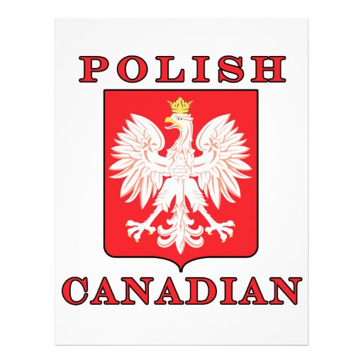 """Polish Canadian Eagle Shield 8.5"""" X 11"""" Flyer"""
