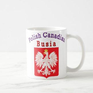 Polish Canadian Eagle Shield Busia Coffee Mug
