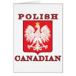 Polish Canadian Eagle Shield Card