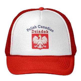 Polish Canadian Eagle Shield Dziadek Trucker Hat