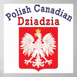 Polish Canadian Eagle Shield Dziadzia Posters