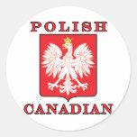 Polish Canadian Eagle Shield Stickers