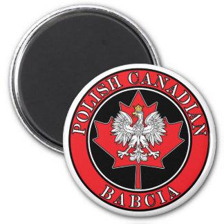 Polish Canadian Maple Leaf Babcia 2 Inch Round Magnet