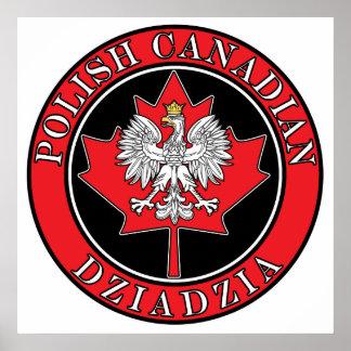 Polish Canadian Maple Leaf Dziadzia Posters