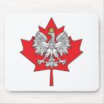 Polish Canadian Maple Leaf Mouse Pads