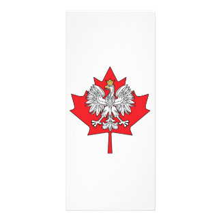 Polish Canadian Maple Leaf Full Color Rack Card