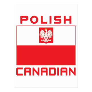 Polish Canadian Poland Falcon Flag Postcard