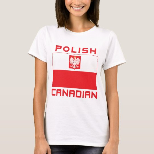 Polish Canadian Poland Falcon Flag T-Shirt