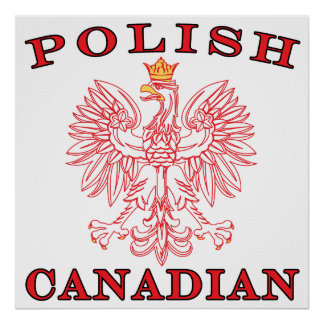 Polish Canadian Red Eagle Poster