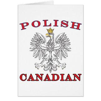 Polish Canadian White Eagle Card