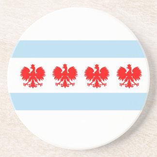 Polish Chicago Flag Coaster