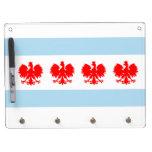 Polish Chicago Flag Dry-Erase Board