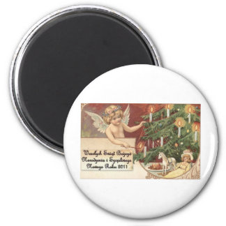 POLISH CHISTMAS ITEMS WESOLYCH SWIAT MAGNETS