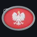 "Polish Coast Of Arms Belt Buckle<br><div class=""desc"">Be proud of who you are! Show off your Polish heritage especially on May 3rd!</div>"