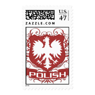 Polish Crest Red Stamps