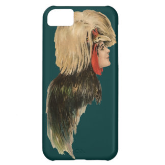Polish Crested Chicken Woman Art Phone Case Bird iPhone 5C Cover