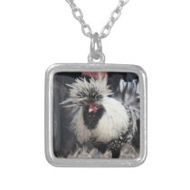 Polish Crested Rooster Silver Plated Necklace