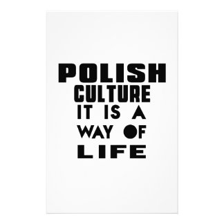 POLISH CULTURE IT IS A WAY OF LIFE STATIONERY