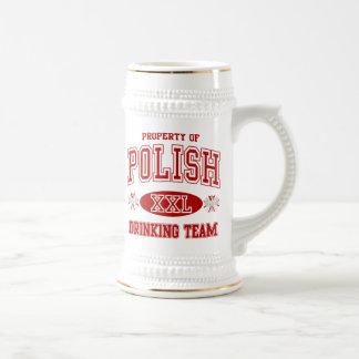 Polish Drinking Team 18 Oz Beer Stein