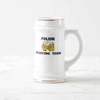 Polish Drinking Team Stein 18 Oz Beer Stein