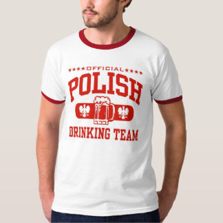 polish drinking team t shirt