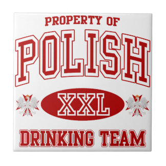 Polish Drinking Team Tile Coaster
