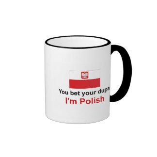 Polish Dupa 1 Ringer Mug