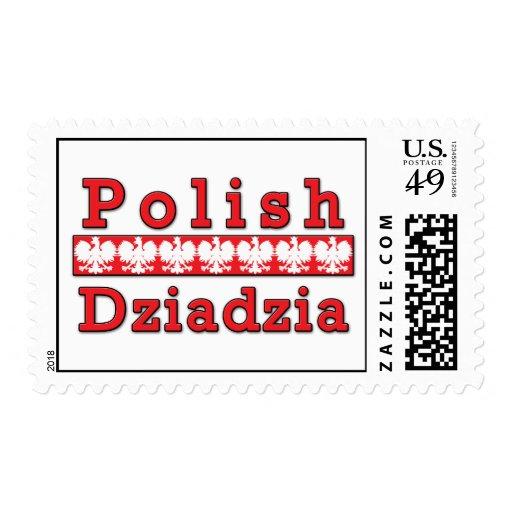 Polish Dziadzia Eagles Stamp