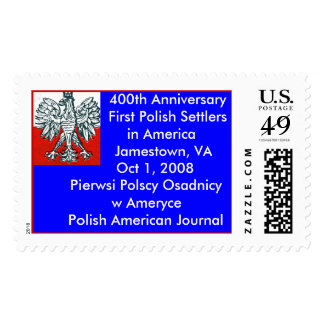 Polish Eagle, 400th Anniversary First Settlers. Stamp