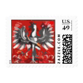 Polish Eagle Art Stamp