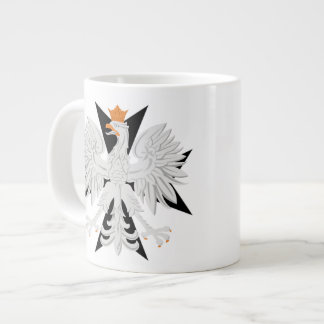 Polish Eagle Black Maltese Cross Jumbo Mug