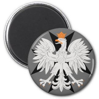 Polish Eagle Black Maltese Cross Magnet