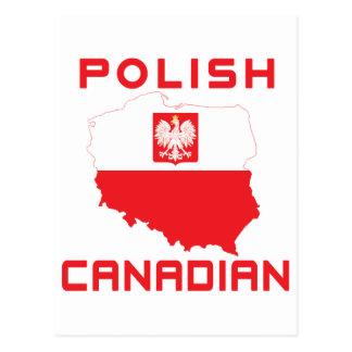 Polish Eagle Canadian Map Postcard