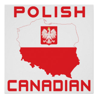 Polish Eagle Canadian Map Posters