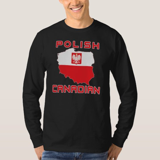 Polish Eagle Canadian Map T-Shirt