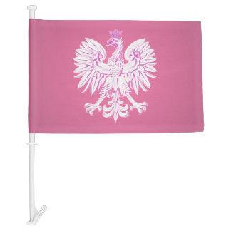 Polish eagle car flag