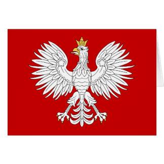 Polish Eagle Card