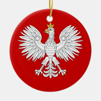 Polish Eagle Ceramic Ornament