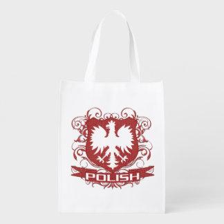 Polish Eagle Crest Grocery Bag