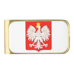 POLISH EAGLE GOLD FINISH MONEY CLIP