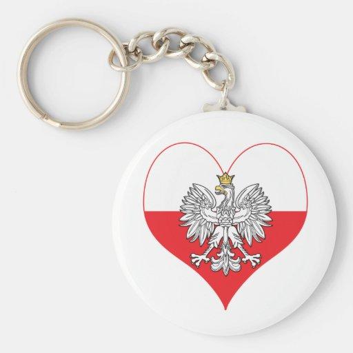 Polish Eagle Heart Keychain