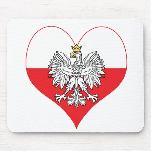 Polish Eagle Heart Mouse Pad